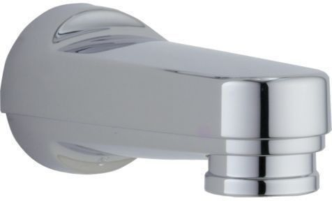 Wall Mount Pull-Down Diverter Tub Spout - Chrome Plated