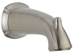 "Addison 7-1/2"" Non-Diverter Tub Spout - Brilliance Stainless, Non-Metallic"
