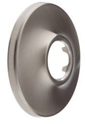 Circular 1-Hole Shower Flange - Brilliance Stainless Steel