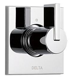 Vero Shower Diverter Trim - 3-Function 2-Port, With Cartridge, Chrome Plated