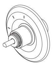 Cassidy 3-Setting 2-Port Diverter Trim - Less Handle Chrome