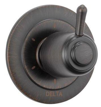 Classic Shower Diverter Trim - 6-Function 3-Port, With Cartridge, Venetian Bronze