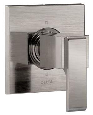 Ara Shower Diverter Trim - 6-Function 3-Port, With Cartridge, Brilliance Stainless