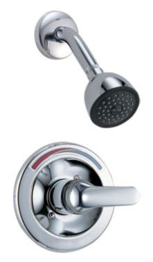 Shower Trim with Single Lever Handle - Monitor, Chrome Plated, Wall Mount, 2 GPM