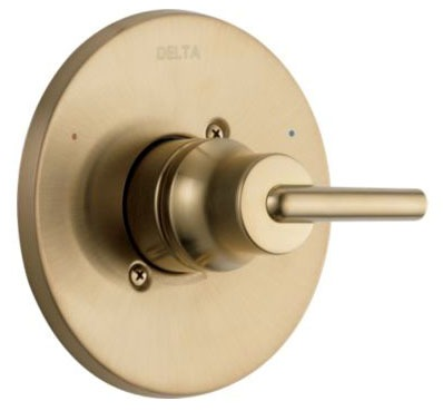 """Trinsic 6-1/2"""" Dia Tub and Shower Faucet Valve Trim - Monitor, Brilliance Champagne Bronze, Metal"""