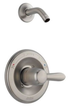 Lahara Shower Trim Without Head - Monitor 14, Single Handle, Brilliance Stainless
