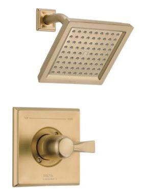 Dryden Shower Trim Kit - Monitor 14, Single Handle, Brilliance Champagne Bronze, 2.5 GPM