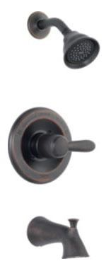 Lahara Tub and Shower Trim Kit - Monitor 14, Single Handle, Pull-Up Diverter Spout, Venetian Bronze, 1.75 GPM