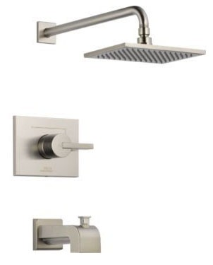 Vero Tub and Shower Trim Kit - Monitor 17, Single Lever Handle, Pull-Up Diverter Spout, Brilliance Stainless, 2.5 GPM