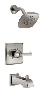 Ashlyn Tub and Shower Trim Kit - Monitor 14, Single Handle, Pull-Up Diverter Spout, Brilliance Stainless, 1.75 GPM