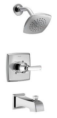 Ashlyn Tub and Shower Trim Kit - Monitor 14, Single Handle, Pull-Up Diverter Spout, Chrome Plated, 1.75 GPM