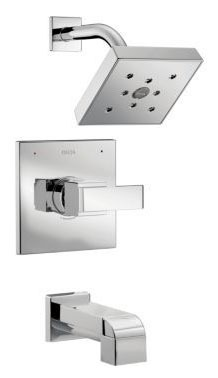 Tub and Shower Trim with Pull-Up Diverter Spout & Single Lever Handle - Ara / Monitor, Chrome Plated, Wall Mount, 2 GPM