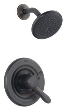 Lahara Shower Trim Kit - Monitor 17, Single Lever Handle, Venetian Bronze, 1.75 GPM