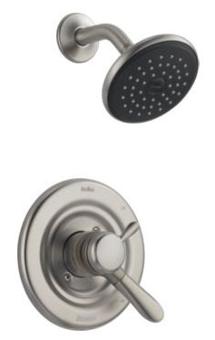 Lahara Shower Trim Kit - Monitor 17, Single Lever Handle, Brilliance Stainless, 1.75 GPM
