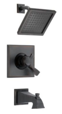 Dryden Tub and Shower Trim Kit - Monitor 17, Single Lever Handle, Pull-Up Diverter Spout, Venetian Bronze, 2.5 GPM