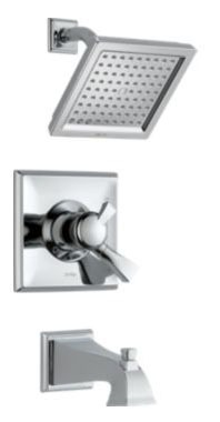 Dryden Tub and Shower Trim Kit - Monitor 17, Single Lever Handle, Pull-Up Diverter Spout, Chrome Plated, 2.5 GPM