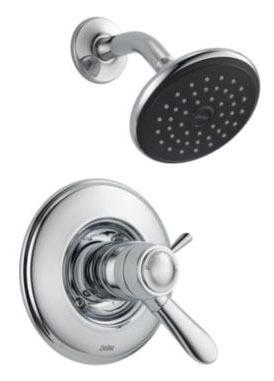 Lahara Shower Trim Kit - TempAssure, Single Lever Handle, Chrome Plated, 2.5 GPM