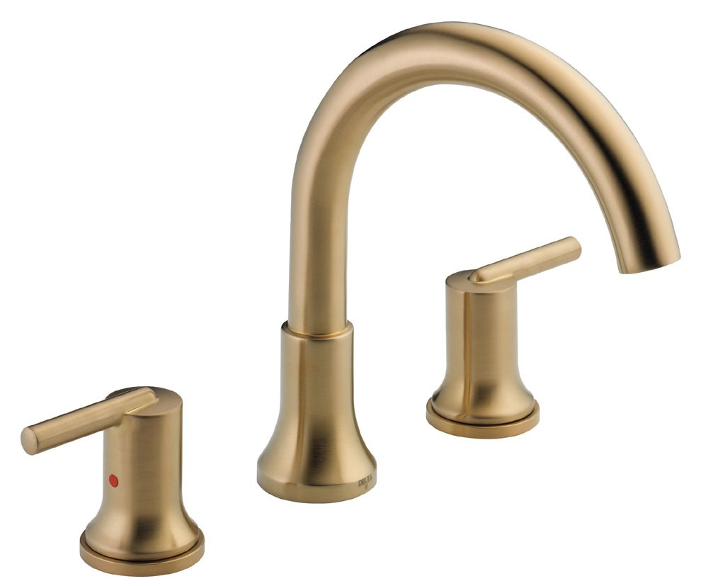 Trinsic Roman Tub Trim - Rigid Slip-On Spout, Brilliance Champagne Bronze