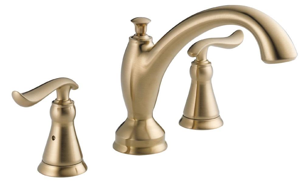 Linden Roman Tub Trim - Rigid Slip-On Spout, Brilliance Champagne Bronze
