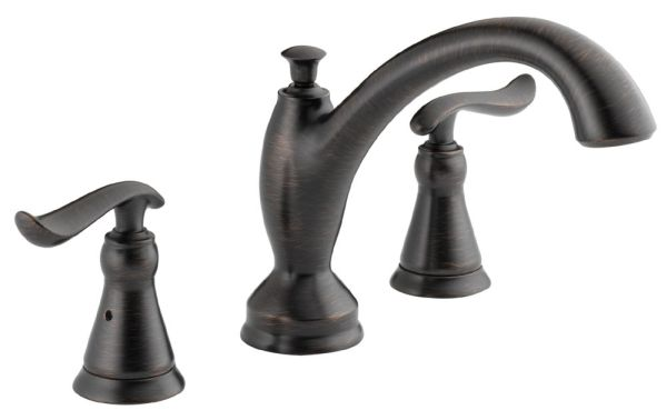 Linden Roman Tub Trim - Rigid Slip-On Spout, Venetian Bronze