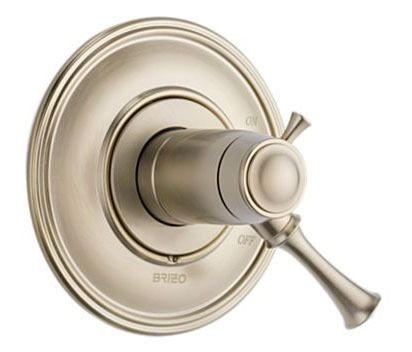 1-Lever Handle Tub and Shower Valve Trim - BALIZA, Brilliance Brushed Nickel