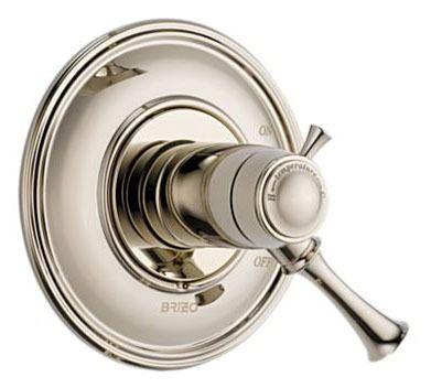 1-Lever Handle Tub and Shower Valve Trim - BALIZA, Brilliance Polished Nickel