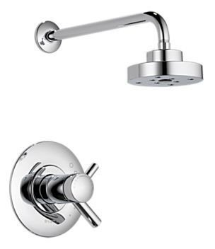 Shower Trim with Single Lever Handle - ODIN, Polished Chrome, Wall Mount, 2 GPM