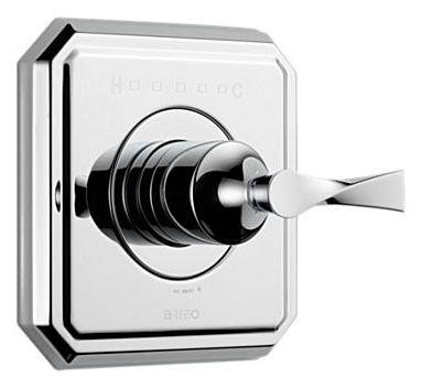 1-Lever Handle Shower Faucet Thermostatic Valve Trim - VIRAGE / SENSORI, Polished Chrome
