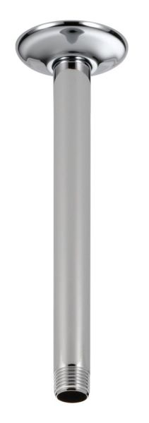 """1/2"""" x 9"""" Shower Arm and Flange - Chrome Plated, Ceiling Mount"""