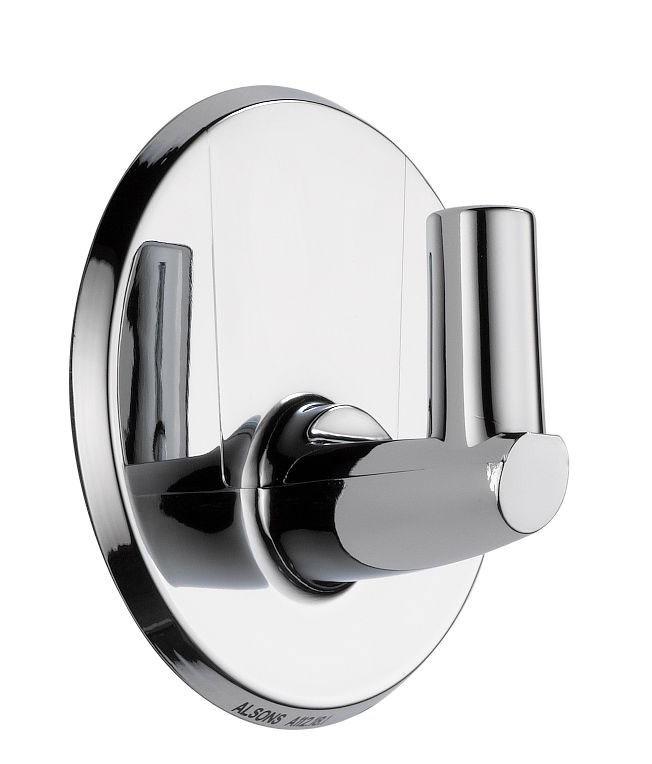 "Swivel Adhesive Hand Shower Pin Wall Mount - Universal Showering, 2-1/4"" x 1-1/4"", Brass, Chrome Plated"