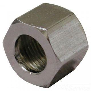 "3/8"" OD Chrome Plated Brass Compression Nut"