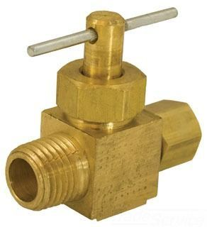 "1/4"" Compression X 1/8"" MIP Straight Compression Needle Valve"