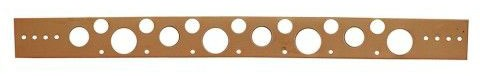 """1/2"""" to 1"""" X 20"""" Flat Copper Plated Bracket"""