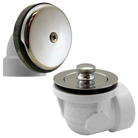 Schedule 40 Bath Waste Kit W/Chrome Plated Brass Lift And Turn Drain And Single Hole Face Plate