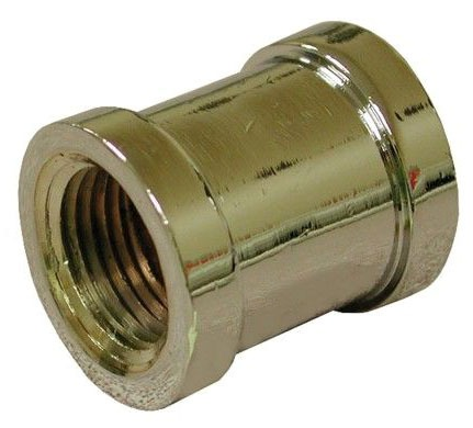 """1/2"""" Chrome Plated Brass Coupling"""