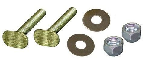 "1/4"" x 2-1/4"" Closet Bolt - with Zinc Plated Round Washer and Acorn Nut, Brass Plated"