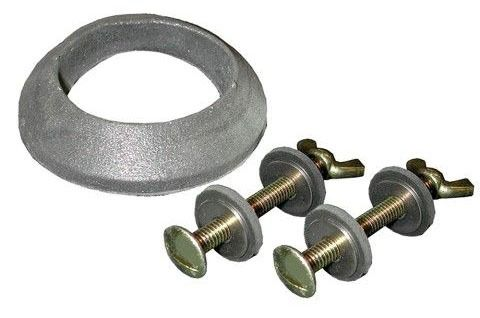 """5/16"""" X 3"""" Plated Tank Bolt Set W/Wing Nut and Gasket"""