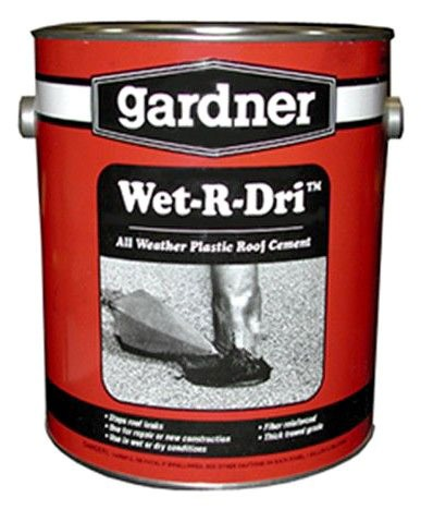"""1"""" Roofing Cement, Black"""