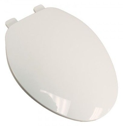 Elongated Toilet Seat - Closed Front with Cover, Builder Grade Plastic