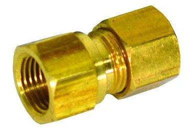 "3/8"" OD X 1/2"" FIP Brass Compression Union Style 66"