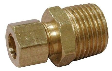 "3/8"" OD X 1/2"" MIP Brass Compression Union Style 68"