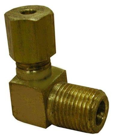 "1/4"" OD X 1/4"" MIP Brass Compression 90 Elbow Style 70"