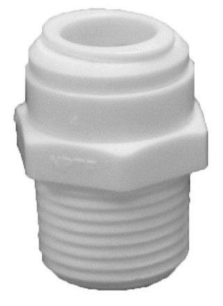 "3/8"" CTS X 1/4"" MIP Plastic Push On Adapter"