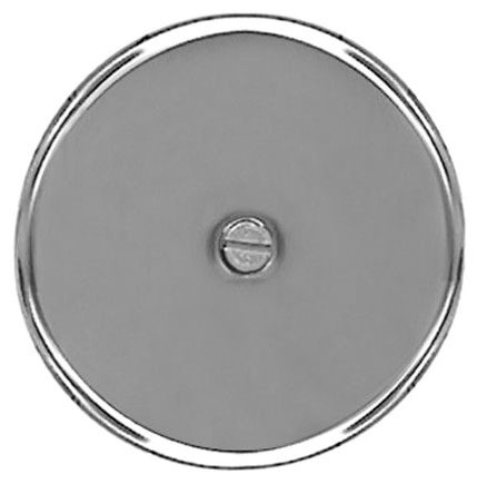 """4"""" Stainless Steel 24 Guage Cleanout/Extension Cover Wall Mount W/4"""" Bolt"""