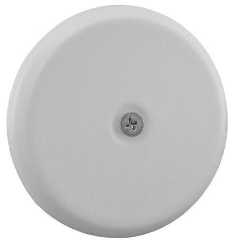 "5-1/4"" White Flat Cleanout Cover Plate"