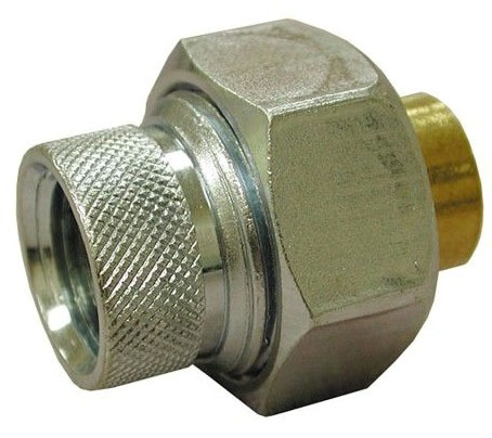 """1-1/4"""" FIP X 1-1/4"""" Sweat Zinc Plated Forged Steel Dielectric Union"""