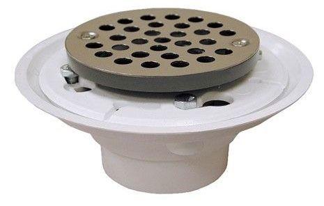 "2"" X 3"" PVC Shower/Floor Drain W/4"" Stainless Steel Strainer"