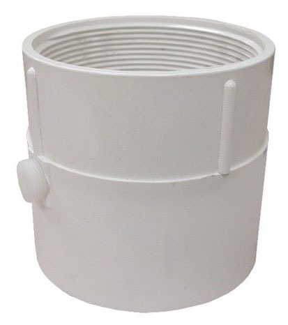 "4"" PVC Pipe Fit Base 4"" Spud Size W/Trap Primer"