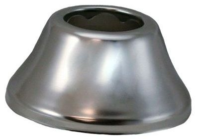 "3"" Diameter, 1-1/4"" Tubular, Chrome Plated, Steel, 1-Hole, Bell Pattern, Kitchen/Bathroom Faucet Flange Escutcheon"