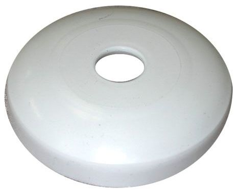 "2-7/16"" Diameter, 1/2"" CTS, White, Plastic, 1-Hole, Shallow, Kitchen/Bathroom Faucet Flange Escutcheon"